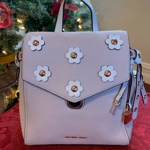MICHAEL KORS BRISTOL SMALL FLOWER BACKPACK PURSE